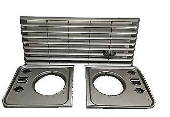 XS Front Headlight Grill Set TD5 Silver Brunel Grey  FOR LAND ROVER DEFENDER