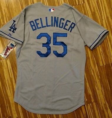 reputable site ec200 fbf56 AUTHENTIC CODY BELLINGER Los Angeles Dodgers Jersey 44 Road Gray