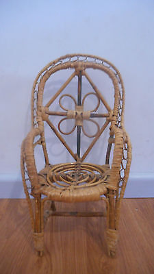 Vintage Dolls or Teddy Bear Wicker Chair
