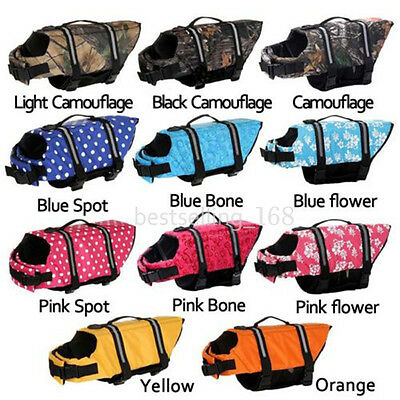 Pet Safety Vest Dog Life Jacket Preserver Puppy Large Swimming Cloth Floatation