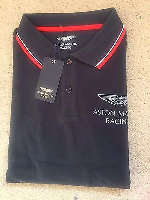 NEW 2016 Aston Martin Racing Total Travel Polo Shirt WEC LE Mans,cotton size S