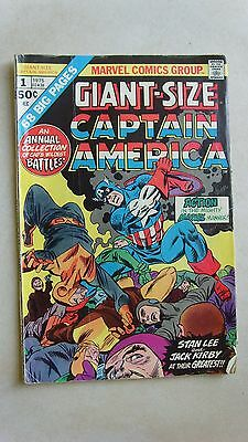 Captain America, Marvel Comics, GIANT SIZE US comic, FIRST ISSUE  1975