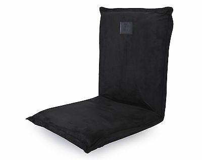 Omlove Black Suede Yoga Meditation Floor Chair Padded Lower back Support Satsang