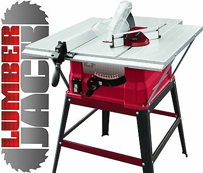 "Lumberjack 10"" Bench Table Saw 250mm with Stand 3 Extensions and TCT Blade 240v"