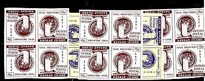 4 Blocks Of Stamps From Great Britain,postal Strike 1971,,
