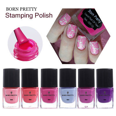 6ml Nail Stamping Polish Colorful Nail Art Stamp Printing Varnish BORN PRETTY