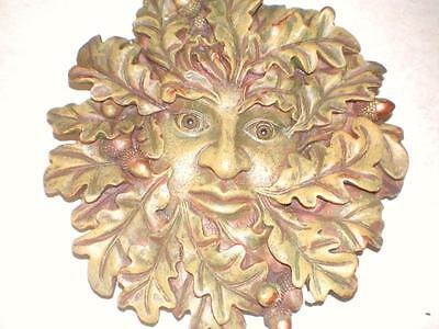 Latex Craft Mould Greenman Wall Plaque Reusable Art & Crafts Hobby Business
