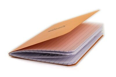 "Rhodia Classic Pocket Notebook A7 75x120 (3"" x 4-¾"") orange cover graph squares"