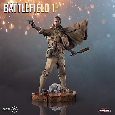 """14"""" Battlefield 1 Statue xbox one UK Collectors Figurine Statue with guns NEW"""