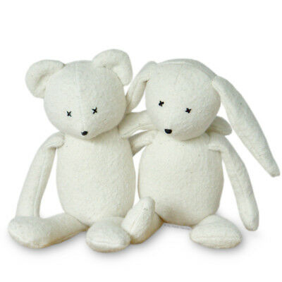 """Huggable Bunny 10/"""" Printed Sewing PATTERN /& Photo Tutorial Fabric Beanie Baby"""