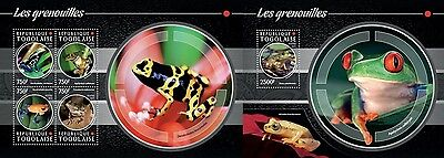TG15208ab Togo 2015 frogs grenouille frogs MNH SET