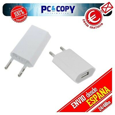 Cargador Corriente Usb Red De Pared Universal Para Sony Psp Blanco 5V 1A