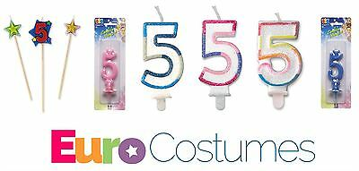 Number 5 5th Candles 12 Designs Birthday Cake Topper Decoration Party