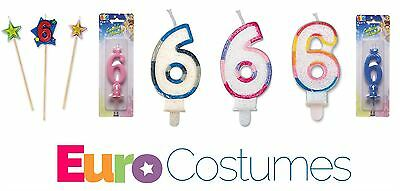 Number 6 6th Candles 12 Designs Birthday Cake Topper Decoration Party