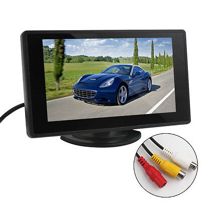 2-CH Video Input 480 x 272 4.3Inch TFT LCD Car Rear View Monitor DVD VCR Monitor