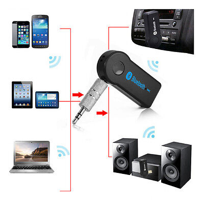 3.5MM F/ Car Dongle Wireless BLUETOOTH Audio Receiver Adapters Built-in Mic AUX