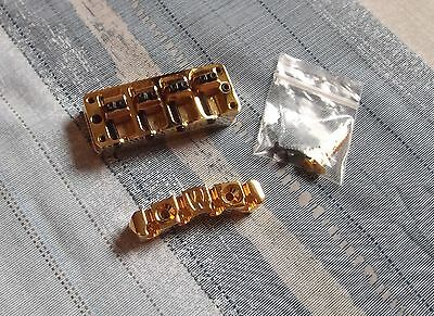 Warwick 4-string bass bridge - Gold - NEW