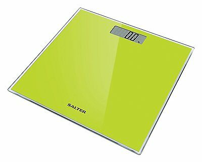 Salter Glass Electronic Digital Bathroom Scale Toughened, Weight 180 Kg Green