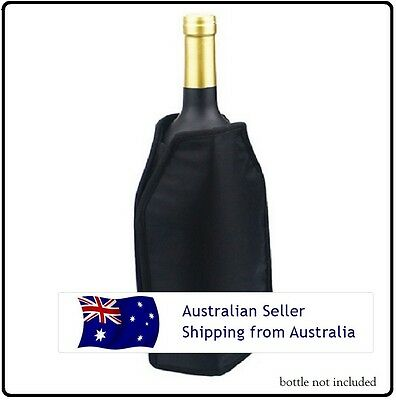 Gel wine & champagne bottle cooler sleeve. Store in freezer, great for picnics.