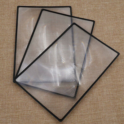 3 Pcs 18x12cm PVC Flat Magnifying Sheet Reading Magnifier Tool for Vision Care