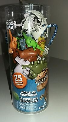 "Tomy ""Disney""The Good Dinosaur World Of Dinosaurs 25 Piece Mini Figure Tub NEW"