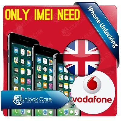IPHONE 7 Plus & 7 VODAFONE UK IPHONE UNLOCK SERVICE 4 5 5s 5c 5se 6s 6plus  Fast