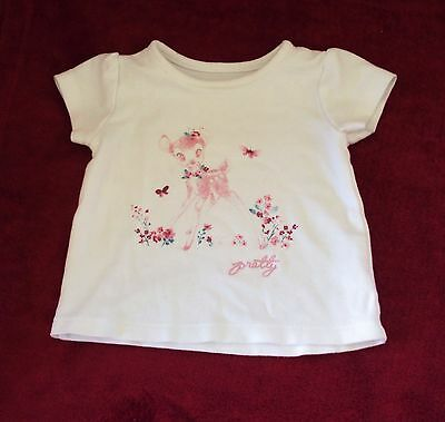 baby girls white George t'shirt, age 0-3 months.
