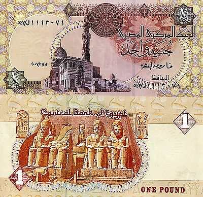 EGYPT 1 Pound Banknote World Paper Money Currency Pick p50l Alt Date 2007 Bill