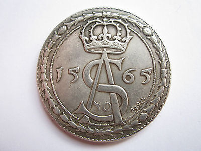 1565 Lithuania-Poland 30 groszy, thaler Sigismund August very big coin