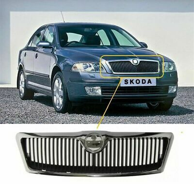 Skoda Octavia 2004-2009 Front Top Grille With Chrome Trim Insurance Approved New