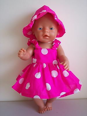 """Baby Born 17"""" Dolls Clothes Hot Pink Summer Outfit"""