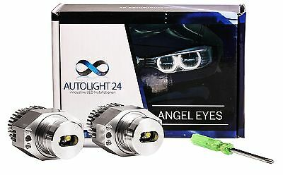 BMW E90 E91 3er 40 Watt LED Angel Eyes Cree Chip Marker Corona Ringe 20C a3