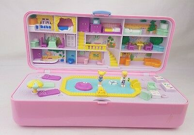 Polly Pocket Pool Party Play Compact Set , Dolls  Bluebird Toys 1989