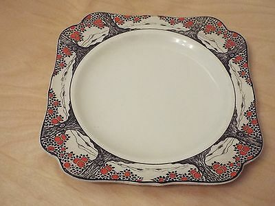 Crown Ducal Orange Tree just under 8 3/8 in. 21.4 cm square Luncheon Plate