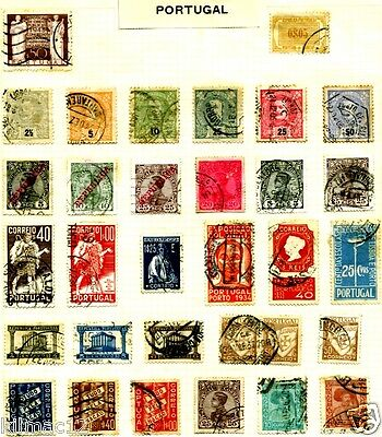 Portugal. Large Selection Of Portugese Stamps..4 Scans.