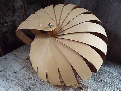 Nautilus hanging lamp shade, MODERNIST DESIGN by Rebecca Asquith
