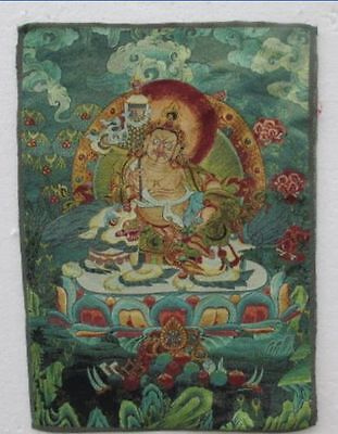 Chinese silk embroidery thangka Tibet and Nepal exorcism peace and wealth
