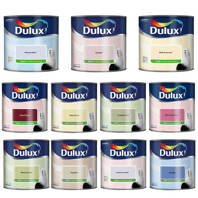 Dulux Paint for Walls & Ceilings ~ 11 Vibrant Colours ~ Easy Apply ~ 2.5L Silk