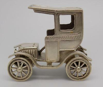 65g Vintage Solid Silver Old Car Miniature - UNOAERRE - Stamped - Made in Italy