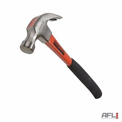 Bahco 428-20 Fibreglass Shaft Steel Smooth Face Curved Claw Hammer 570g (20oz)