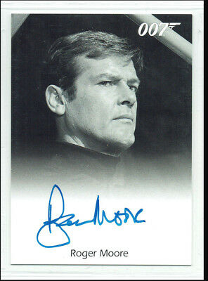 James Bond 50th Anniversary Series 2 Autograph Card Roger Moore Live & Let Die