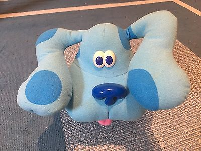 Vintage 1997 Tyco Blues Clues Pose A Blue Poseable Bendable Plush #39955
