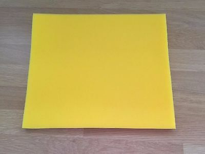 Motorcycle Air Filter Foam Sheet Yellow 10 inch x 12 inch 1/2 inch thick