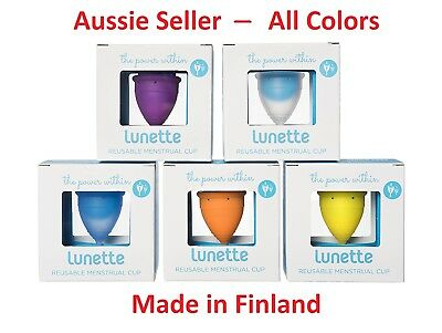 Lunette Menstrual Cup Silicone Model 1, Model 2 & Choose Colour & Size Authentic