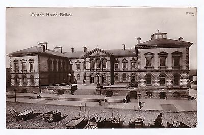 P3472 Original old RP postcard of Custom House, Belfast