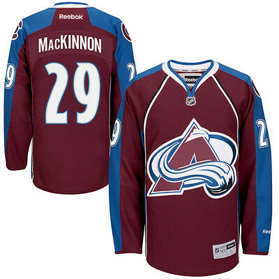 NEW! Colorado Avalanche Nathan MacKinnon #29 Reebok Premier Hockey Jerseys