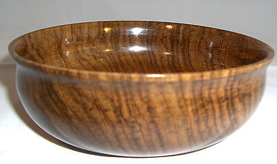 Turned East Indian Rosewood Bowl Beautiful Brown Color Nice Grain Pattern
