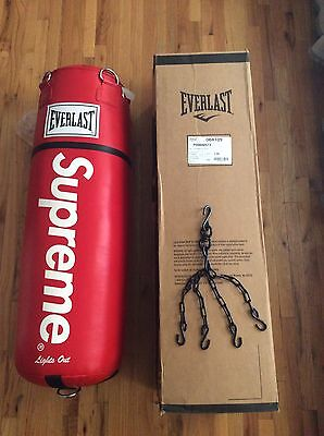 Supreme X Everlasting Leather Heavy Bag 70Lbs With Hang Chain