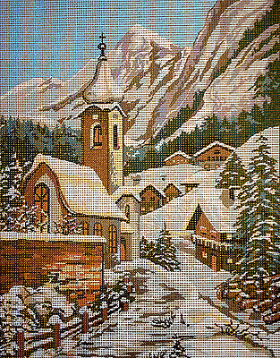 "Tapestry Gobelin Needlepoint Kit ""Winter"" printed canvas  140"