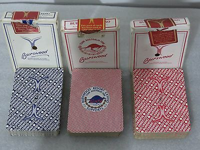 3 Different RARE Burswood Casino Poker Blackjack Playing Cards (Complete Deck)